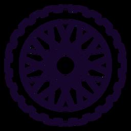 Icono de trazo de rueda dentada