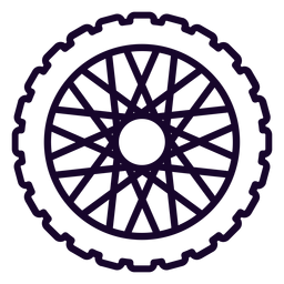 Sprocket cog stroke icon