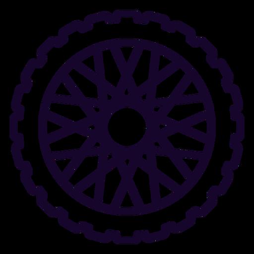 Icono de trazo de rueda dentada Transparent PNG