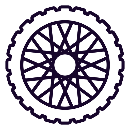 Sprocket cog stroke icon Transparent PNG