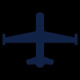 Silueta de vista superior de avión espía