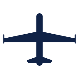 Spy airplane top view silhouette