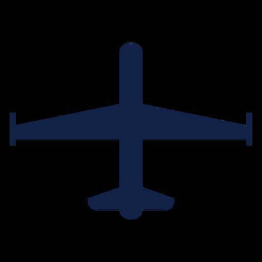 Silhueta de vista superior do avião espião Transparent PNG