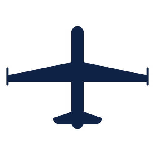 Spy airplane top view silhouette Transparent PNG