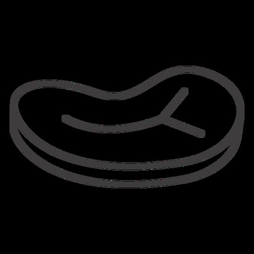 Steak slice stroke icon Transparent PNG