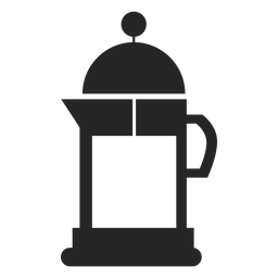 Icono plano de la cafetera de la estufa