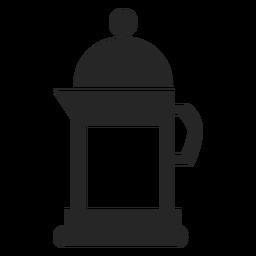 Plano icono de estufa cafetera