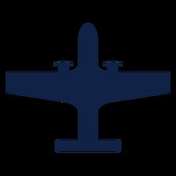Silhueta de vista superior de avião estratégico