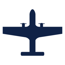 Strategic airplane top view silhouette