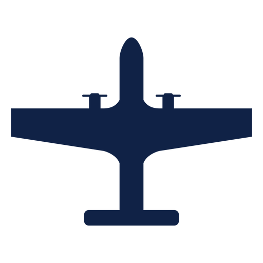 Strategic airplane top view silhouette Transparent PNG