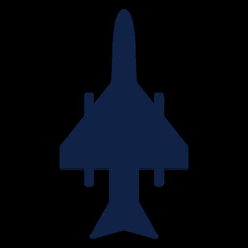 Silueta de vista superior de avión de combate de huelga Transparent PNG