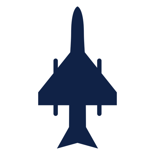 Strike fighter airplane top view silhouette Transparent PNG
