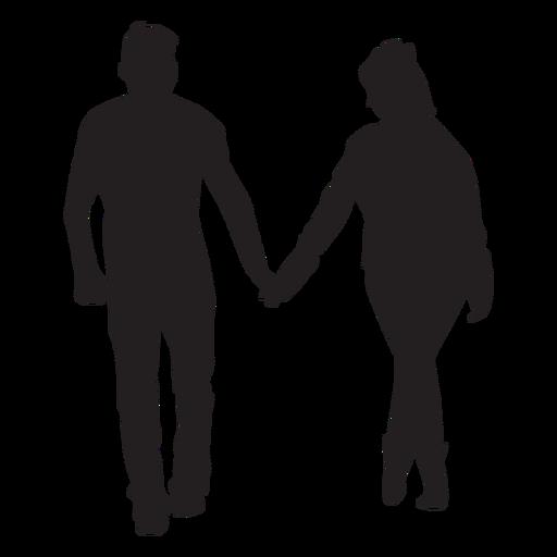 Strollng juntos pareja silueta Transparent PNG