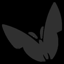 Stylized butterfly silhouette