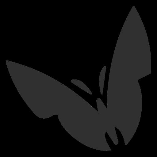 Silhueta de borboleta estilizada Transparent PNG