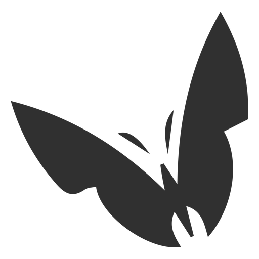 Stylized butterfly silhouette Transparent PNG