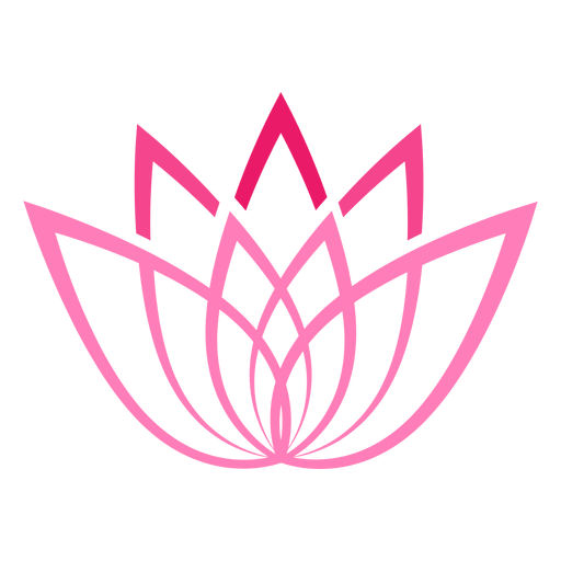 Stylized Lotus Flower Symbol Transparent Png Svg Vector