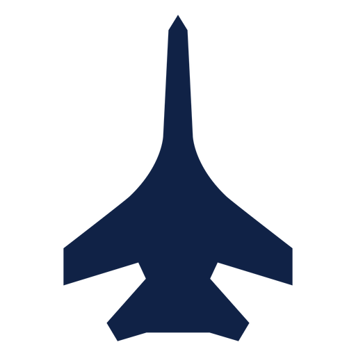 Su 27 avión vista superior silueta Transparent PNG