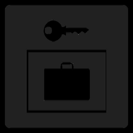 Mala e chave ícone quadrado Transparent PNG