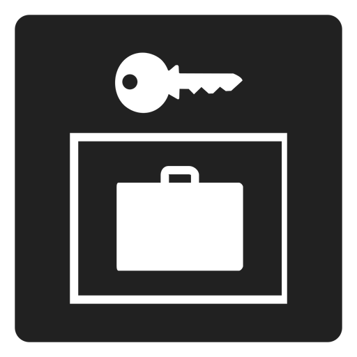 Suitcase and key square icon Transparent PNG