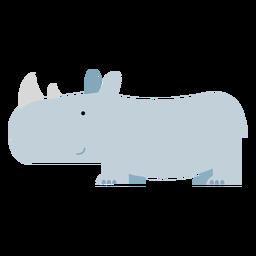 Ilustración de rinoceronte de sumatra