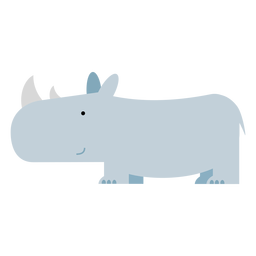 Sumatran rhinoceros illustration