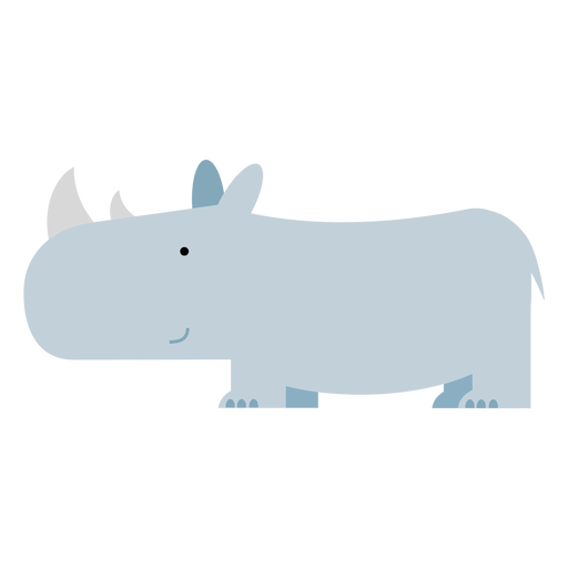 Sumatran rhinoceros illustration Transparent PNG