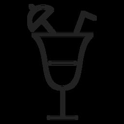 Ícone cocktail de verão