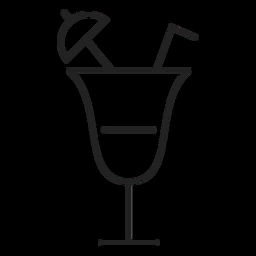 Icono de cóctel de verano Transparent PNG
