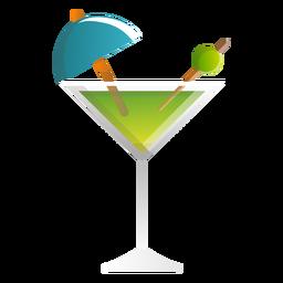 Icono de cóctel de martini de verano