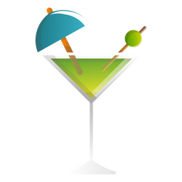 Summer martini cocktail icon