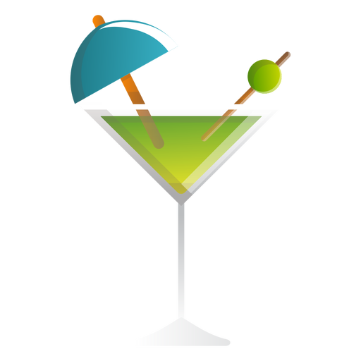 Summer martini cocktail icon Transparent PNG