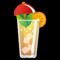 Icono de naranjada de verano