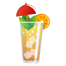 Summer orangeade icon