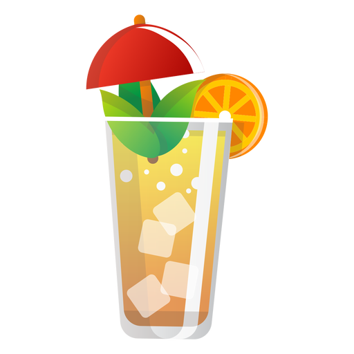 Ícone de orangeade de verão Transparent PNG