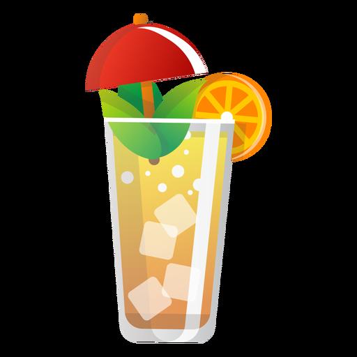 Icono de naranjada de verano Transparent PNG