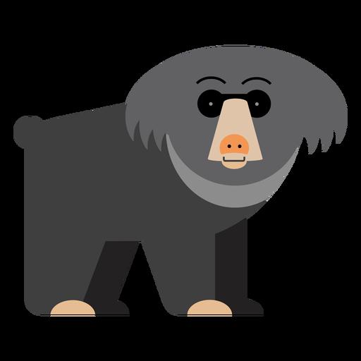 Sun bear illustration Transparent PNG