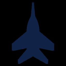 Silueta de vista superior de avión super hornet