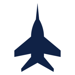 Super hornet airplane top view silhouette