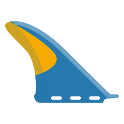 Surf board fin icon