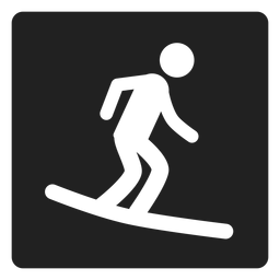 Surf boarding square icon