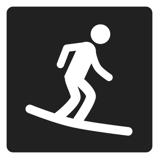 Surf boarding square icon Transparent PNG