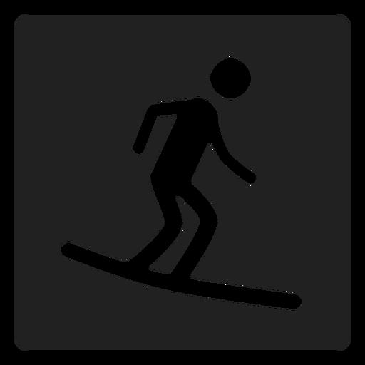 Surfar, embarcar, quadrado, ícone Transparent PNG