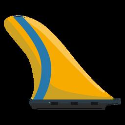 Icono de aleta de surf