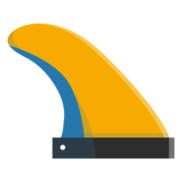 Surfboard fin icon