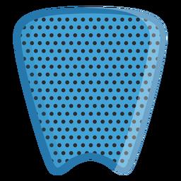 Icono de almohadilla de tracción de tabla de surf