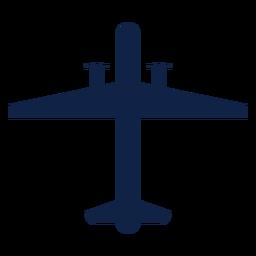 Silueta de vista superior de avión de vigilancia