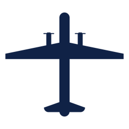 Surveillance airplane top view silhouette