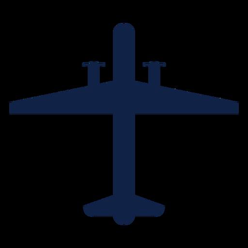 Silueta de vista superior de avión de vigilancia Transparent PNG