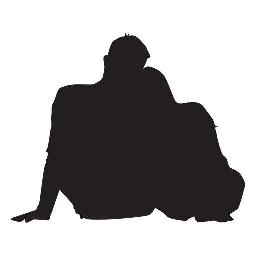 Sweet couple silhouette Transparent PNG